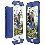 CE-LINK Housse Etui en PC Matière pour iPhone 6 Plus, Coque iPhone 6S Plus, Ultra-Mince 3 Part 360 Degrés Cover pour Apple iPhone 6 Plus 6S Plus Anti Fine - Bleu