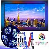 LED Tira De TV, [Versión Mejorada]Diyife 2.5M 75 LEDs Multicolor RetroiluminacióN Con FR Remoto De TV 5050RGB Bias LluminacióN Para HDTV De 40-60 Pulgadas, Alimentado Por USB Para TV/PC