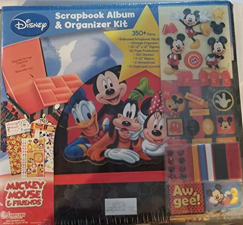 Sandylion Disney Mickey Mouse (Disney Scrapbook-Album und Organizerbox mit Mickey Mouse, Donald Duck Minnie Maus und Goofy, 350 Teile)