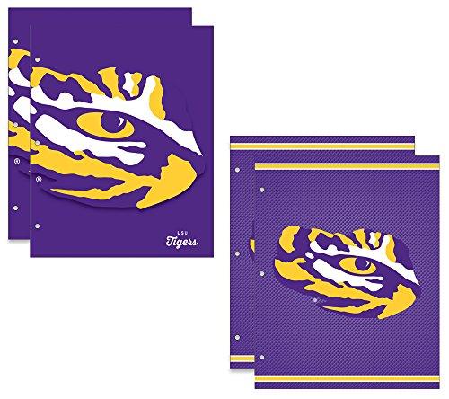 Louisiana State University Tigers 2Schule Ordner, 4Pack, 24,1x 30,5cm