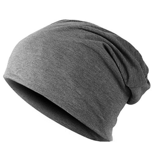 EJKDF Frühling Frauen Männer Unisex Gestrickte Wintermütze Lässige Mützen Einfarbig Hip-Hop Snap Slouch Mütze Hut Dark Gray