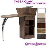 BANCO RECEPTION DA CASSA IN LEGNO NEGOZIO (VARIE COLORAZIONI) PROFESSIONALE CLAW