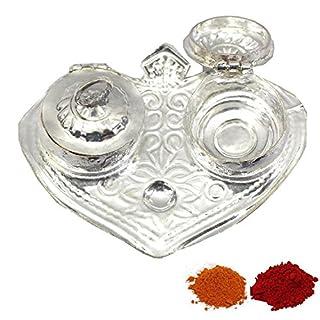 Amba Handicraft Indische Traditionelle Deko Pooja Thali, schöne Lakshmi Festival ethnische Geschenk für Sie/Kankavati / Diwali/indisches Kunsthandwerk/Zuhause / Tempel/Büro / Hochzeit Geschenk GS23
