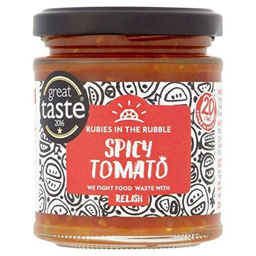 Rubine In Den Trümmern Würzigen Tomaten-Relish 210G (Packung mit 4) (Ruby-relish)