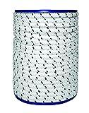 Cuerda poliéster 12mm x 30m, color blanco–azul, en rollo