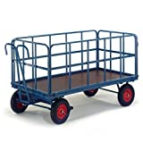 Rollcart Handpritschenwagen mit Rohrgitterwänden, 15-45102