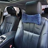 HANKEY Auto Nackenkissen - Memory Foam Kopfstütze Reisekissen für Auto, SUV, Bus & Flugzeug | Atmungsaktiv, Hypoallergen & CertiPUR-US Zertifiziertes Nacken Autokissen (1er Pack, Hundeknochen-Form)