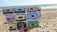 Neceser Retro Cassette Chica Mujer Rosa Acolchado Grande