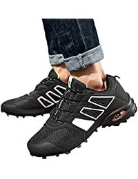 Zapatos de hombre JiaMeng Moda Hombres Zapatillas Estilo Hombres Casual Botas Resistentes al Deslizamiento Senderismo Botas Impermeables Zapatos de Escalada al Aire Libre