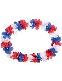12 Stück Alsino Hawaiiketten blau weiß rot Frankreich Blumenketten Hulakette 36