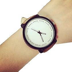WINWINTOM Unisex Quartz Analog Wrist Watch White