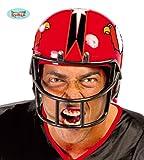 Guirca Football Helm für Erwachsene Karneval Fasching Party Quarterback Rot