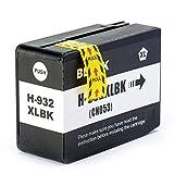 tigtak compatible HP 932933XL 932X L 933X L Cartouches d'encre de rechange pour Officejet 761275106100ePrinter 7610660076006700Premium Cartouches d'encre Multipack 1 x noir
