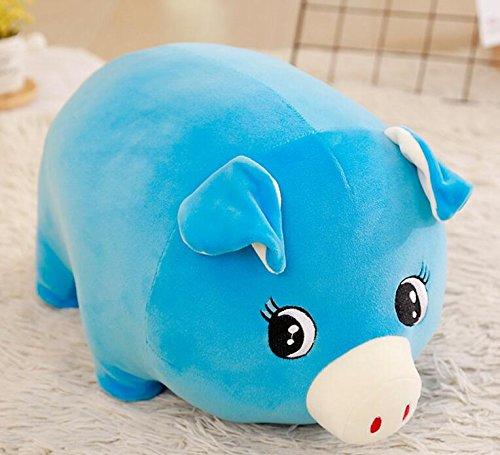 Schöne Stofftiere Baby Weiche 15 cm Plüsch Schwein Spielzeug Gefüllte Animierte Schwein Tier Puppe für Kinder Geschenk Raumdekoration (blau) (Spielzeug Schwein Gefüllte)
