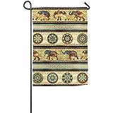 Dozili Gartenflagge Online Afrikanischer Wald Tierdekoration Wetterfest & doppelseitig Flagge, Polyester, bunt, 28