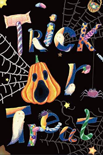 LHSION Trick or Treat Halloween Garten Flagge 31,8x 45,7cm-Kürbis Geister Candy Garten Flagge Dekorativen House Yard Doppelseitig Flagge für Urlaub Dekoration