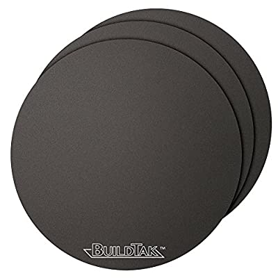 "BuildTak BT65DIA-3PK 3D Printing Build Surface, 6.5"" Diameter Round, 165 mm Diameter Round, Black (Pack of 3)"