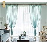 LYDM Tüll Vorhänge für Wohnzimmer Weichen Weißen Voile solide Rural Tüll Vorhang für Schlafzimmer fertige Vorhang (Nur 1 Panel)