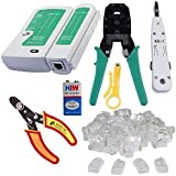 ZCS Rj45 Rj11 Crimping, KD-1 Professional Punch Down Tool, Network Lan Cable Tester