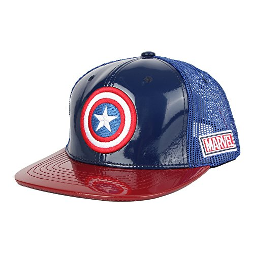 30a244abd9b4 WITHMOONS Casquette de Baseball Captain America Shield Avengers Snapback  Hats Mesh Cap AC1102P (Navy,