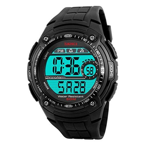 Oumosi Schwimmen Wasserdicht Smart Electronic mit Kalender Digital Uhren schwarz