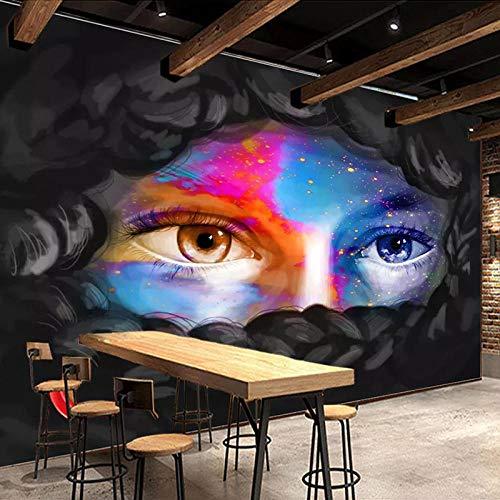 Fototapete 3D Effekt Benutzerdefinierte 3D Fototapete Persönlichkeit Mode Moderne Schönheit Wandbild 3D Restaurant Cafe Bar Kunstwanddekor Malerei 350X245 Cm
