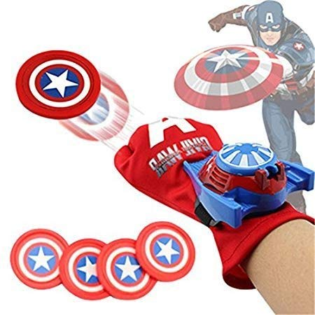 Fancydresswale Avenger disc Shooters with Light and Sound (Captain America)