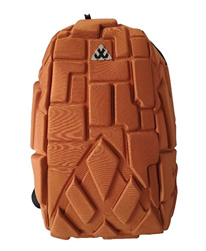 Not Available Hardshell 3D Blocks Waterproof Hatchling Laptop Backpack Fits 15.6 inch Laptops - 40 litres Capacity Bag (Rust)