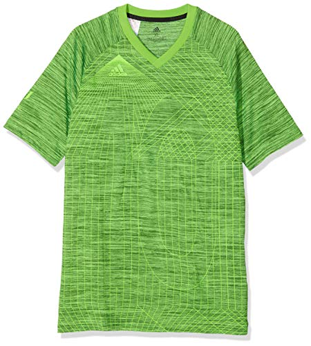 adidas Jungen Messi Kurzarm-Shirt, Solar Green, 176 -