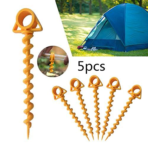 5 PCS Ultimate Ground Anchor Orange Schraube für Camping