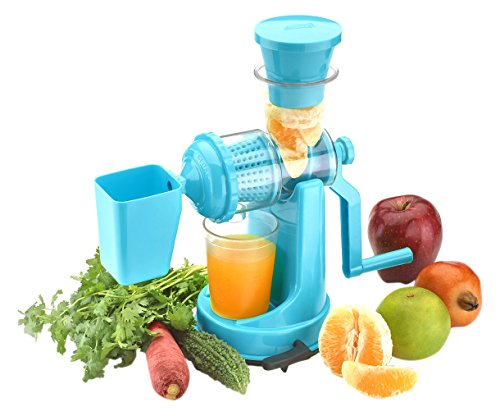 Amiraj Plastic Manual Juicer Set, 2-Pieces, Blue