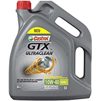 Castrol Limited 15A4D5 GTX Ultraclean 10W-40 A3/B4 5L, Grey, 5 L