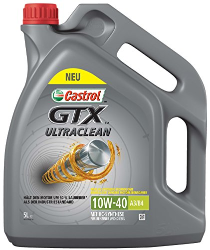 Castrol Limited 15A4D5 GTX Ultraclean 10W-40 A3/B4 5L, Grey,