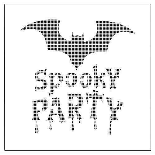 Spooky Party Halloween Wiederverwendbare Schablone Airbrush Malerei Kunst Kuchen Sprühform DIY Kuchen Dekorieren Tools, 1 ()