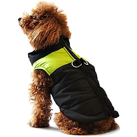 MQZM perro gato Puppy ropa ropa Pet Dress Up - Alimentos para mascotas abrigos para perros verde / azul / Rosa XS impermeable de invierno / S / M / L / XL / XXL XXXL / / 5XL / 4XL 6XL / nylon