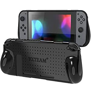 Protective Case for Nintendo Switch,Comfort Grip TPU Soft Cover with Shock-Absorption and Anti-Scratch Design Back Cover Case for Nintendo Switch 2018 (Black)