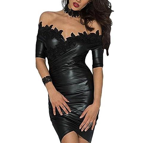 Frau Rock Abendkleider Mode Spleiß schlank Pakethüfterock Kleid Bleistiftrock Polyester , black , s