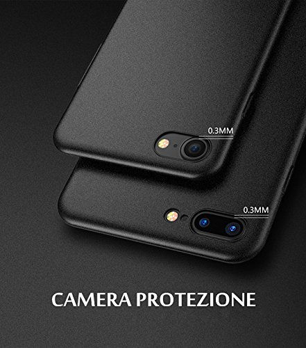 Cover iphone 7 plus,FLOVEME Custodia Ultra Sottile Anti Graffio Resistente Copertura Protettiva in Plastica Dura iphone 7 plus Case,Blu Nero