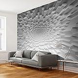decomonkey | Fototapete 3d effect 350x256 cm XXL | Design Tapete | Fototapeten | Tapeten | Wandtapete | moderne Wanddeko | Wand Dekoration Schlafzimmer Wohnzimmer | weiß grau Grau | FOB0030a73XL