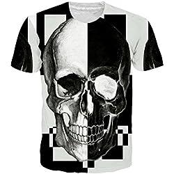 Goodstoworld Cráneo y Bloques para camiseta retro