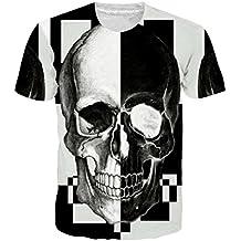 Goodstoworld Unisex 3D Imprimió Camisetas de Manga Corta de Colores Personalizada Casual tee Shirt