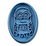 Cuticuter Kinder Minion Oval Ausstechform, Blau, 8 x 7 x 1.5 cm
