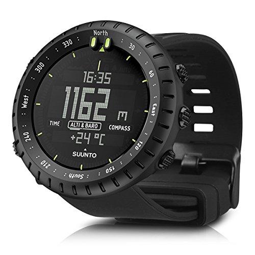 kwmobile Cinturino sostitutivo per Suunto Core - Bracciale fitness per smartwatch in silicone con fibia senza Tracker nero -
