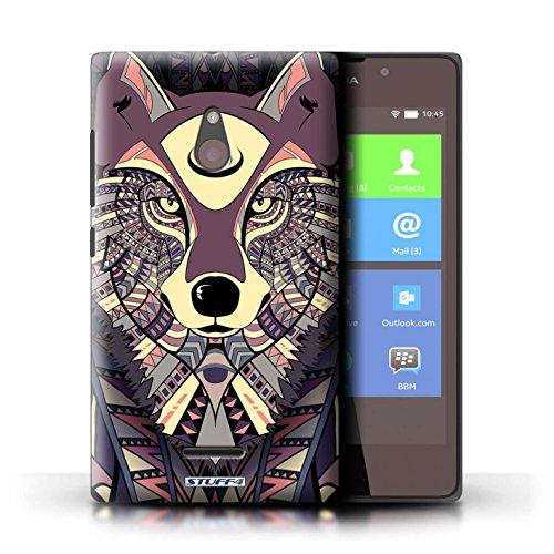 Kobalt® Imprimé Etui / Coque pour Nokia XL / Tigre-Rouge conception / Série Motif Animaux Aztec Loup-Cramoisi