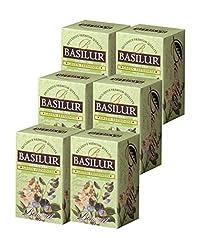 Basilur   Green Freshness   Green tea with Pure Peppermint   Bouquet Collection   Single Origin   100% Pure Ceylon Tea   Non GMO   20 Ct Foil Sachets (Pack of 6)