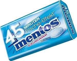 Mentos Kaugummi mit 45 Minuten Frische-Effekt I Zuckerfrei mit langanhaltendem Pfefferminz-Geschmack I Sechs Metalldosen mit je 28 Kaugummis