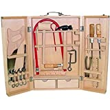 Kinder Werkzeug Laubsäge Werkzeugkasten Holz Werkzeugkoffer 24.tlg Laubsägekoffer