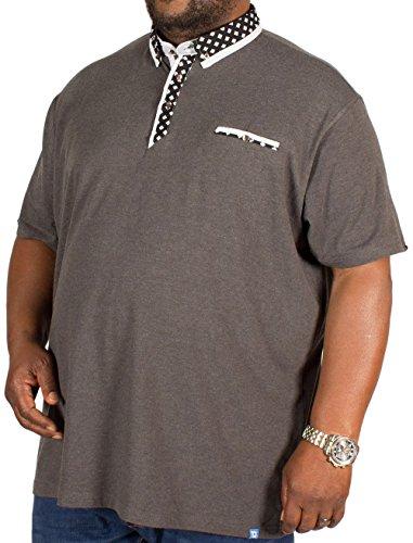 D555 Herren Poloshirt grau grau Charcoal Marl - Grey