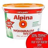 Alpina Wohnraum Weiss 13 L 30% mehr Inhalt Wand und Decken Farbe