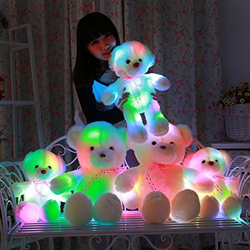 MFEIR Orsacchiotto dello LED colorato bambola Orso e i giocattoli di peluche con musica Regalo di compleanno per ragazza 35cm - 2